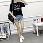 =EF依芙=韓國首爾 時尚精品 東大門同步 早班車7177 金絲絨米奇大碼寬鬆短袖T恤