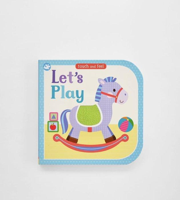 ♀高麗妹♀英文原版 Touch and feel Let's Play 觸摸書 紙板書 啓蒙繪本