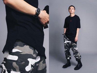 【MASS】Black Flag 17'SS slogan tee Ruffian 斜剪裁標語長版tee