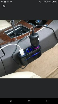 car charger twin socket 汽車點煙器一出二
