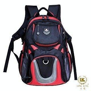 【葳爾登】long king休閒包登山包旅行袋,後背包,電腦包側背包露營包人體工學登山背包8722紅