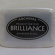 Brilliance 亮彩印台/打印台/印泥(日本製)Graphite Black
