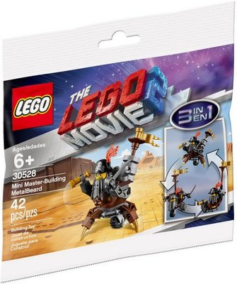 全新現貨 30528 LEGO The LEGO Movie 2 - LegoMini Master-Building MetalBeard polybag
