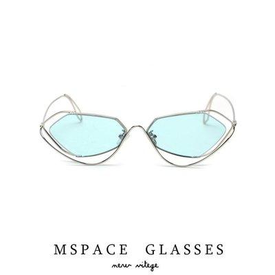迪麗熱巴同款金屬太陽鏡 男女街拍線條時髦墨鏡 高品質s31080