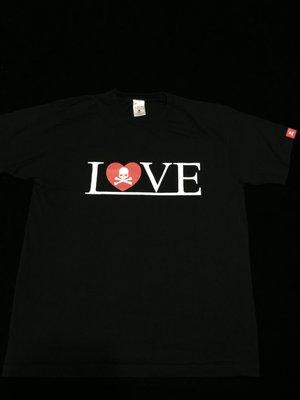 二手美品 Mastermind JAPAN MMJ LOVE & PEACE TEE 愛心 骷髏 短T 短袖
