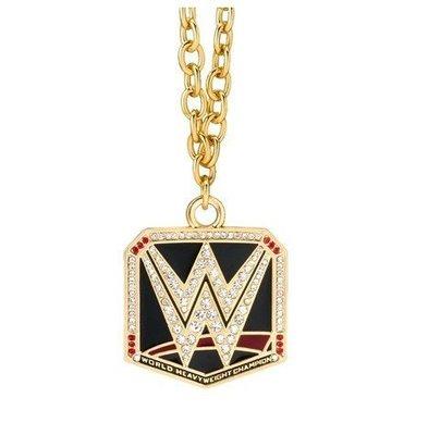 ☆阿Su倉庫☆WWE摔角 WWE World Heavyweight Championship Pendant 冠軍項鍊