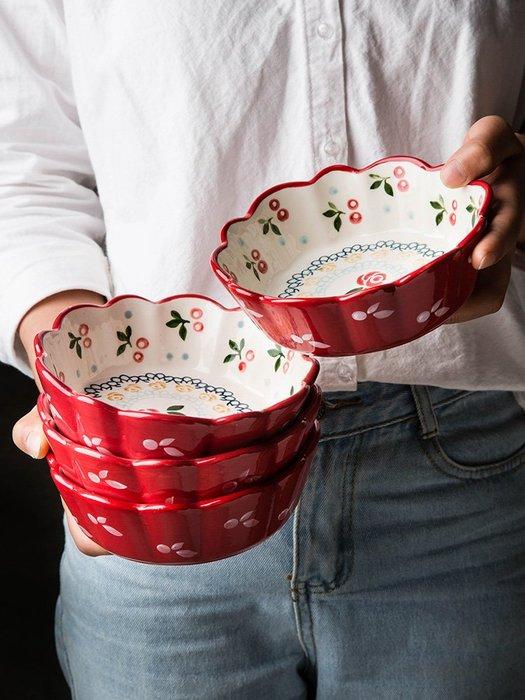 (奇點)做早餐碗陶瓷櫻桃小碗可愛沙拉碗麥片碗家用水果碗芋圓碗#居家用品#