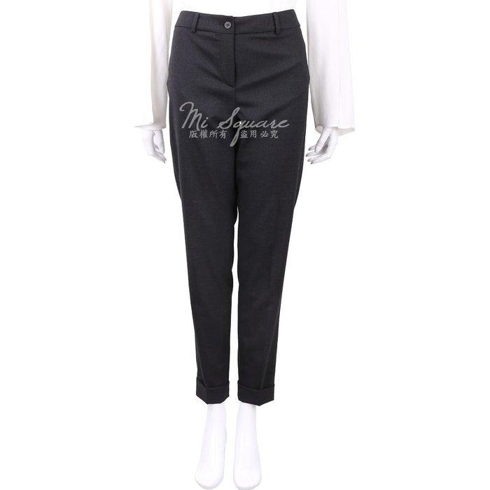 米蘭廣場 FABIANA FILIPPI 金屬珠鑲嵌深灰色反褶設計彈性羊毛褲 1810045-11