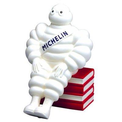 (I LOVE樂多) 法國輪知名胎品牌MICHELIN米其林指南陶器存錢桶 送人自用兩相宜喔