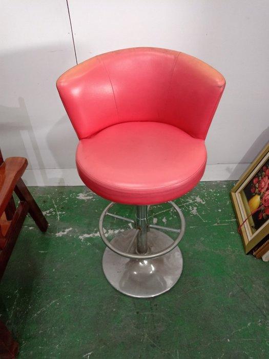 二手家具全省估價(大台北冠均 新五店)二手貨中心--可愛紅色吧檯椅 升降椅 高腳椅 餐椅 酒吧椅 C-0011607