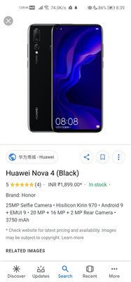 Huawei nova 4 +ticwatch 2