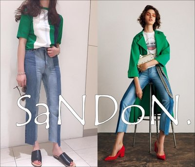SaNDoN x 『MILA OWEN』大推薦 設計特色漸層刷色不規則剪裁牛仔褲 SLY SNIDEL 170707