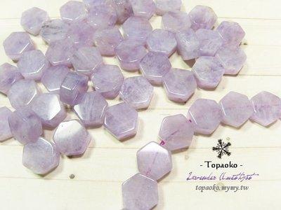 天然石配件.串珠材料 天然薰衣草紫水晶.紫玉六角形珠一份4P【F8777】約10*11*5mm手作水晶《晶格格的多寶格》