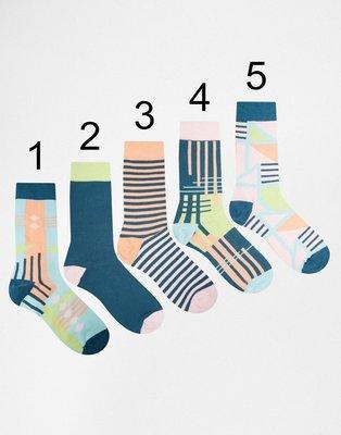 [M&Y] 現貨! 知名品牌Urban Eccentric 幾何彩色圖型 中長筒  5色可選 襪子