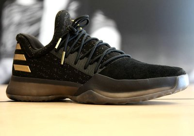 Adidas Harden Vol.1 PK BW0545 Boost哈登1代大鬍子黑金麂皮潑金愛迪達籃球鞋8字型穩定片