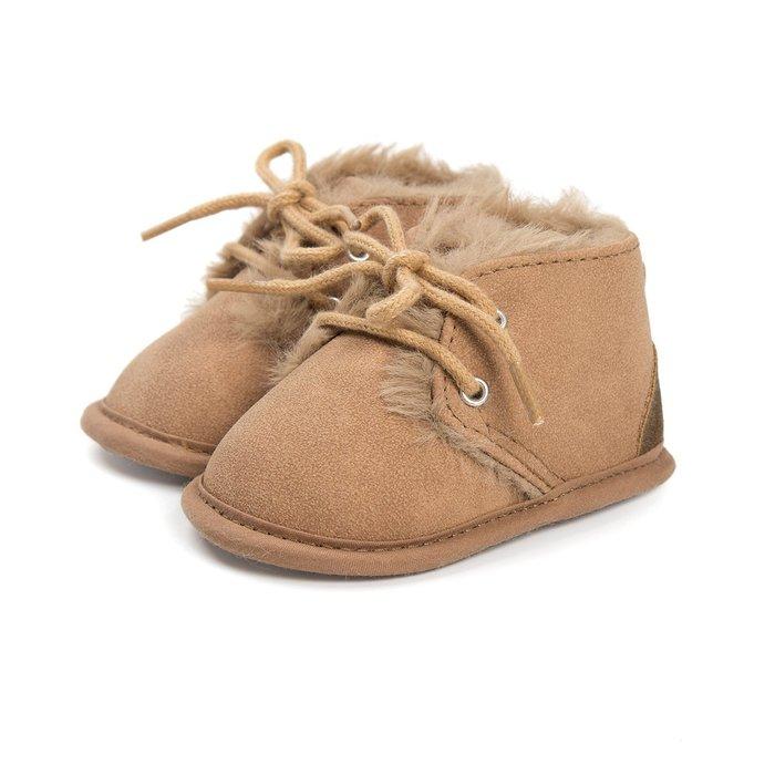 森林寶貝屋~淡咖啡休閒保暖鞋~學步鞋~幼兒鞋~寶寶鞋~嬰兒鞋~學走鞋~童鞋~綁帶設計~舒適~彌月贈禮~特價135元