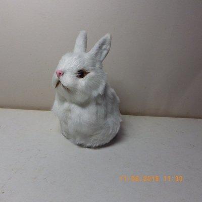 紫晶宮***單隻兔子高11.5cm白色***品質保證價格便宜