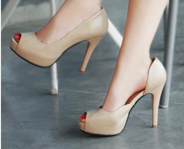 超大尺碼魚口鞋 定做小碼鞋 超高跟小碼魚口鞋 30碼 31碼 32碼 42碼 43碼貨號:610001