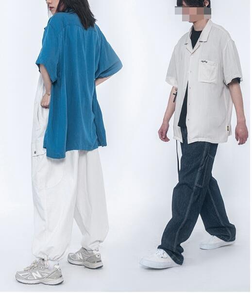 FINDSENSE X 男款 時尚 寬鬆舒適日系 純色短袖衫衣   袖男 女士襯衫 衛衣襯衫上衣