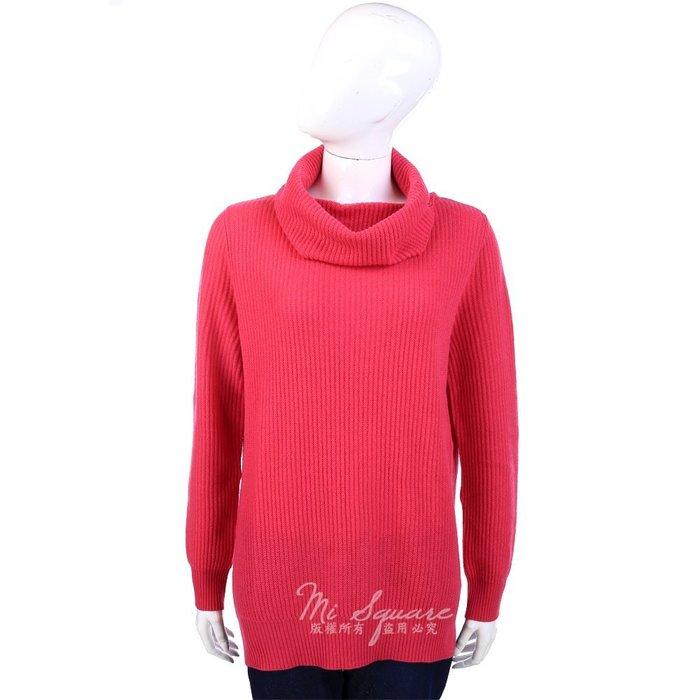 米蘭廣場 ALLUDE 100% CASHMERE 桃紅色條狀織紋高領上衣 1340320-41