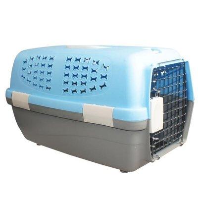 哆啦本鋪 寵物骨型帶踏板航空箱 狗狗貓咪外出箱 航空籠 托運箱 D655