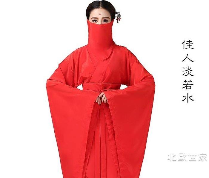 古裝雙繞曲裾同款璇璣舞台舞蹈演出服裝古風紅色漢服促銷大減價!