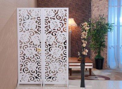 屏風隔斷客廳簡約現代小戶型折疊簡易移動雙面雕花鏤空玄關裝飾墻
