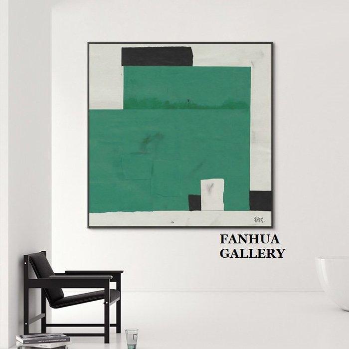 C - R - A - Z - Y - T - O - W - N 黑白綠當代藝術掛畫設計師配畫大尺寸抽象色塊裝飾畫當代簡約抽象藝術畫美學空間工作室設計師款掛畫