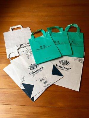 英國 Whittard、British Museum 紙袋共四個 $100 運60 7-11交貨便