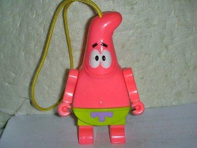 aaS1.(企業寶寶玩偶娃娃)少見2012年麥當勞發行海綿寶寶旺來組-派大星公仔吊飾--值得收藏!/6房樂箱60/-P