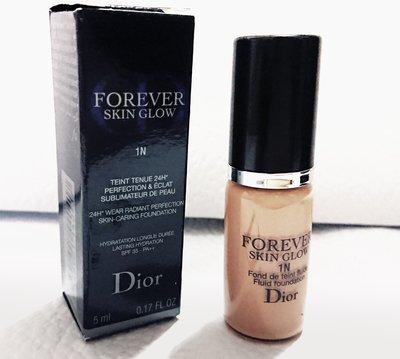 全新 Dior迪奧超完美持久柔光粉底液5ml  色號1N  按壓瓶  期限2021/10  現貨10瓶