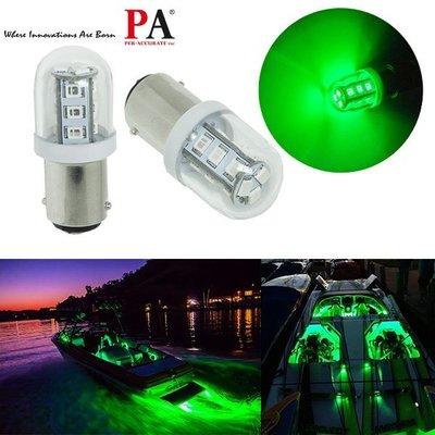 【PA LED】船用 9~32V BA15D 1142 15晶 2835 SMD LED 綠光 指示燈 警示燈 燈泡
