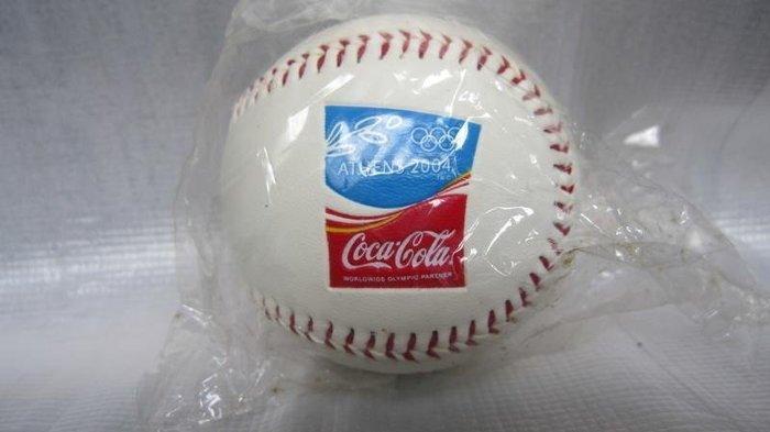 可口可樂 2004年 雅典奧運 紀念棒球 全新未拆封