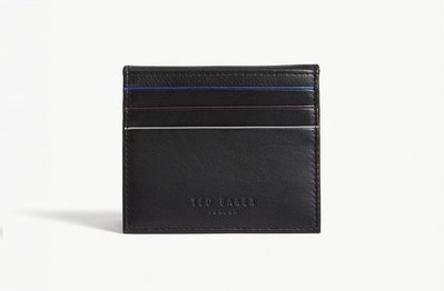 TED BAKER Striped piping leather card holder 卡夾(黑色)(預購)(附盒子)