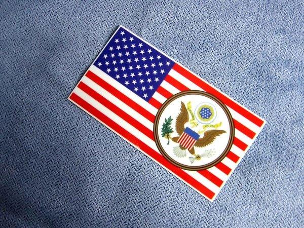 【衝浪小胖】美國徽國旗登機箱貼紙/抗UV防水/USA/各國款均可訂製