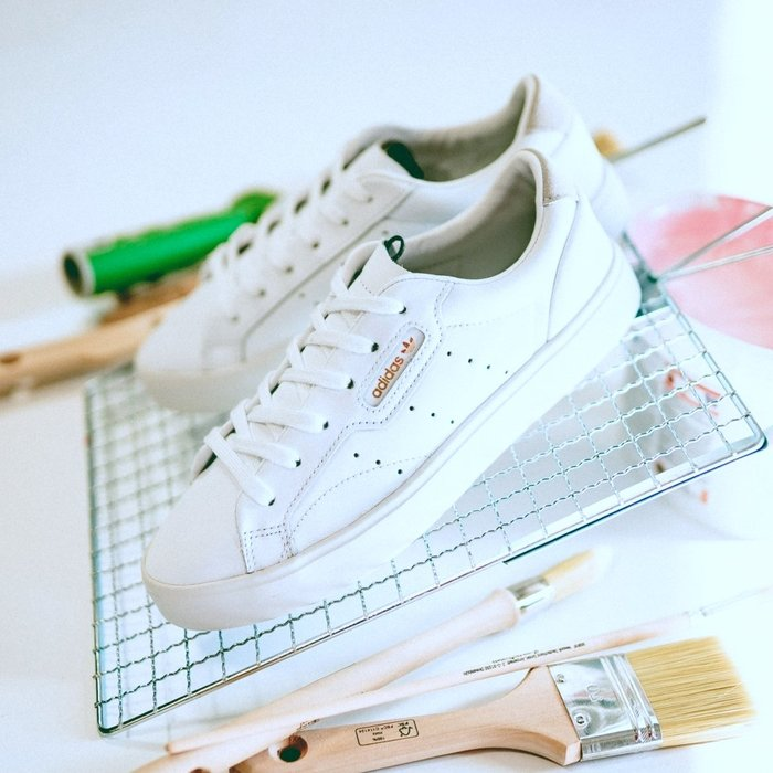 Washoes adidas originals Sleek W 全白 DB3258 白色 楊冪 女鞋 復古 休閒鞋