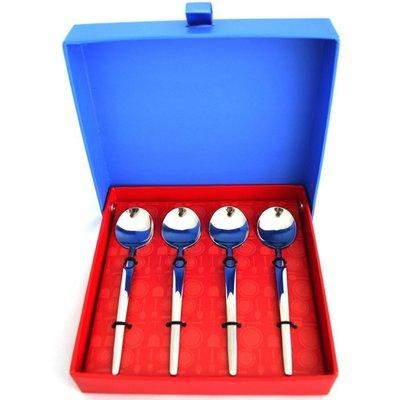 【現貨】德國雙人國際 四件式西餐組 Dessert Spoon湯匙4支/盒(長度約13.5cm)