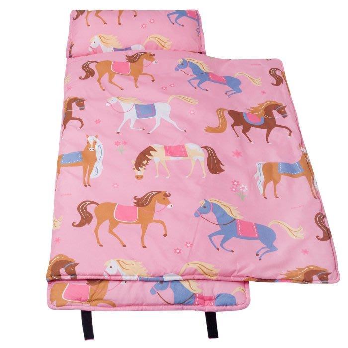 [美國 Wildkin]符合美國標準 49696 凱莉小馬(大) 無毒幼教睡袋/午覺毯/兒童睡袋(2-7歲)