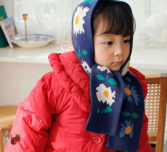 ✿啾米韓國童裝♪~20冬~Amber~可愛花卉圍巾~AM1020-01【特價商品】