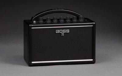 【又昇樂器 . 音響】BOSS KATANA 刀 MINI 電吉他 7瓦 小音箱 居家 旅行 練習必備 迷你音箱