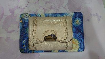 ANNA SUI 真皮皮夾(珠光色)3折多層卡夾