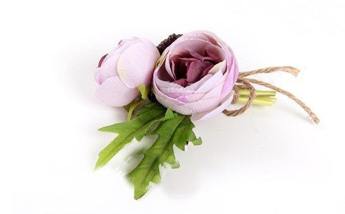 牡丹花 玫瑰花 人造花 西洋玫瑰 多色 花束 仿真花 永生花 乾燥花 玫瑰花束 不凋花 保鮮花 新娘捧【G-608】胸花