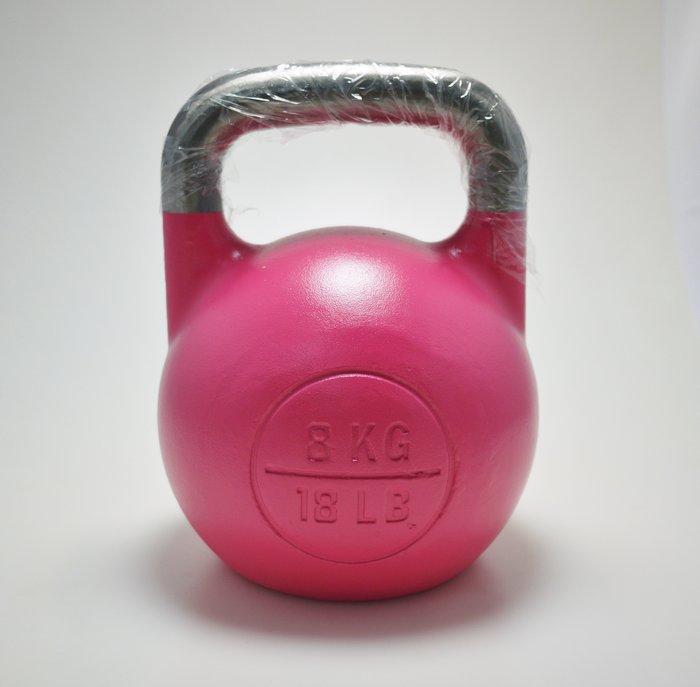 【神拳阿凱】Krypton 一體成型 競技壺鈴 8kg 粉紅 運費到付