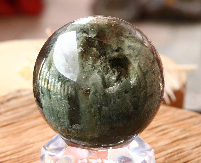孟宸水晶 = A925 (頂級100%天然意象綠幽靈水晶球)