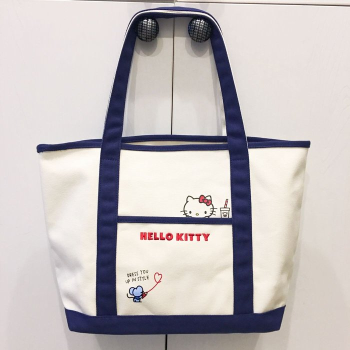 Baby Sheep 日本 三麗鷗正版 Sanrio Hello Kitty 凱蒂貓 箱包 托特包 肩背包 大開口 書包
