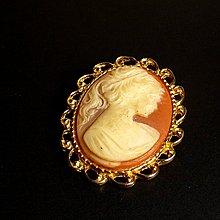 花見小路m055英國維多利亞 古董貝雕CAMEO希臘神話浮雕別針 小胸針  領巾夾