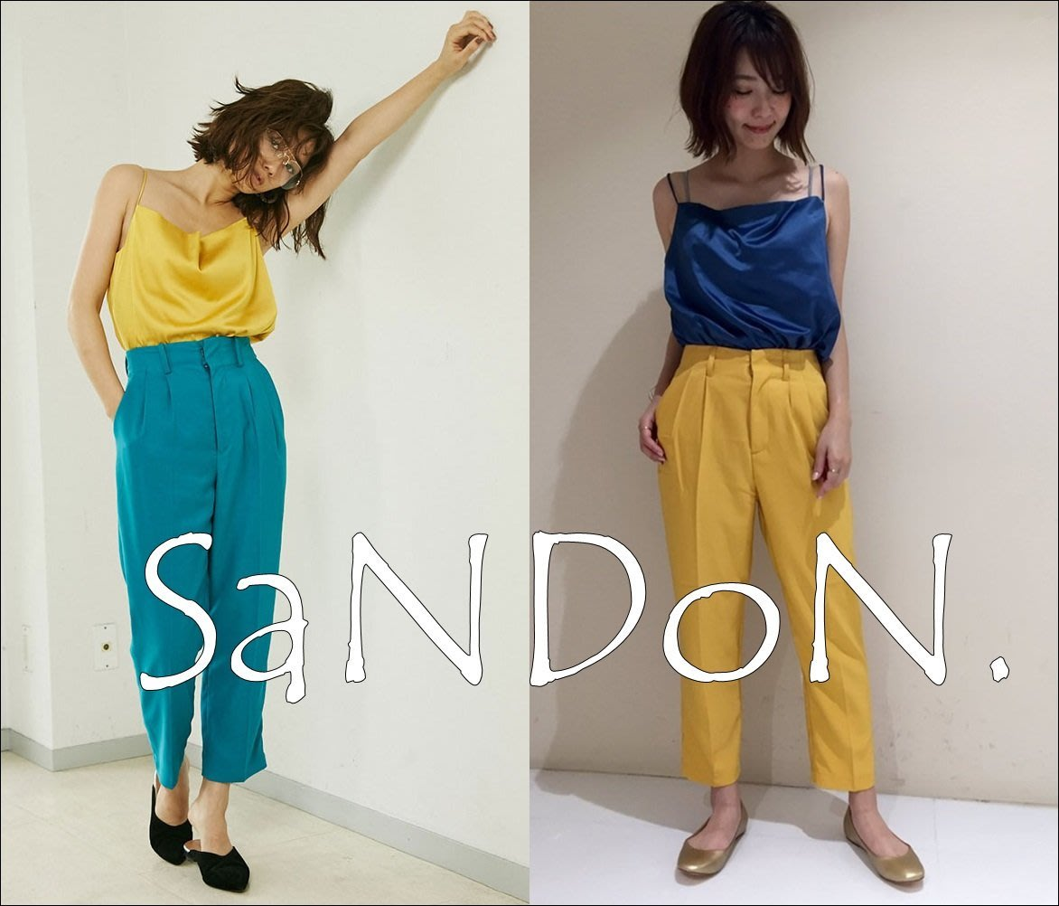 SaNDoN x『UNGRID』 大定番款 ~櫃姐愛用穿搭~復古高腰折線顯瘦西裝八分長褲 SLY KBF 170711
