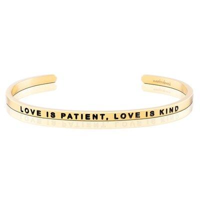 MANTRABAND Love is Patient Love is Kind 金色手環 愛是恆久忍耐又有恩慈
