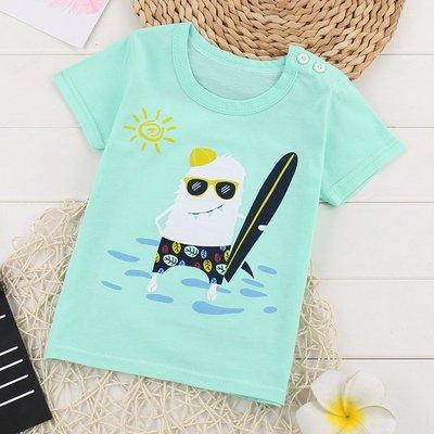 【現貨-E2022-C】男女小童夏天純棉短袖T恤