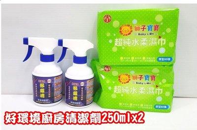 贈80抽柔溼巾2包[多力安 小舖] 好環境廚房清潔劑250ml/廚房清潔用品/居家清潔用品/螞蟻蟑螂